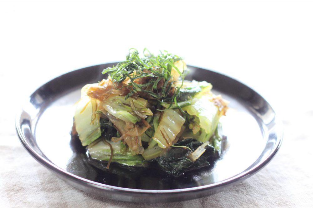お財布にやさしい簡単節約大葉レシピ!大葉と白菜の炒め煮