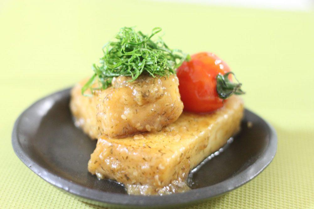 おもてなしの大葉レシピ!厚揚げとトマトの大葉みそ田楽