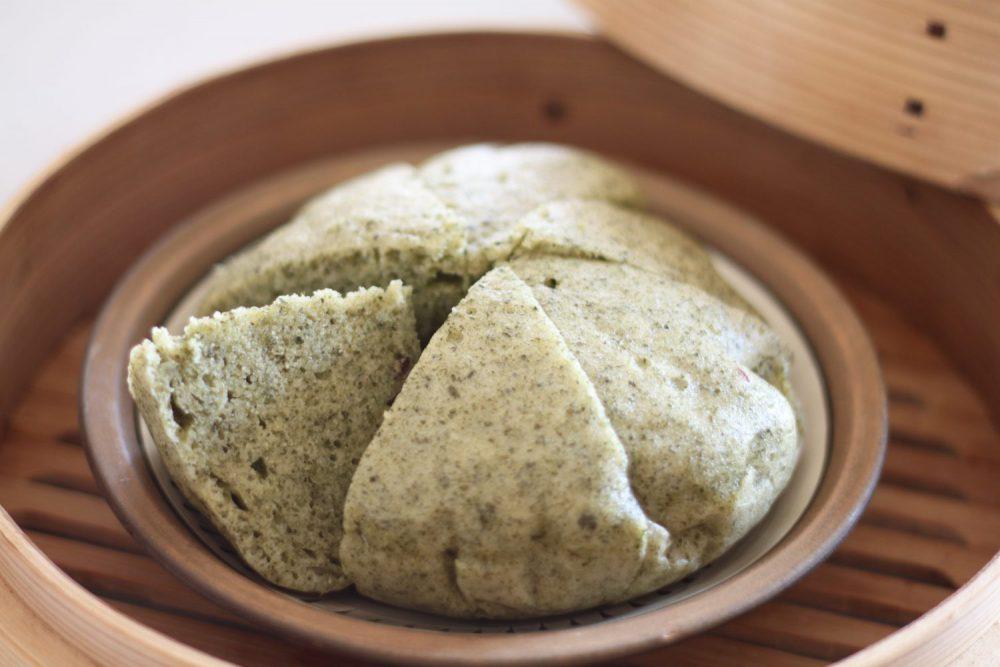 ふわっと美味しい大葉茶レシピ!大葉茶の中華蒸しケーキ
