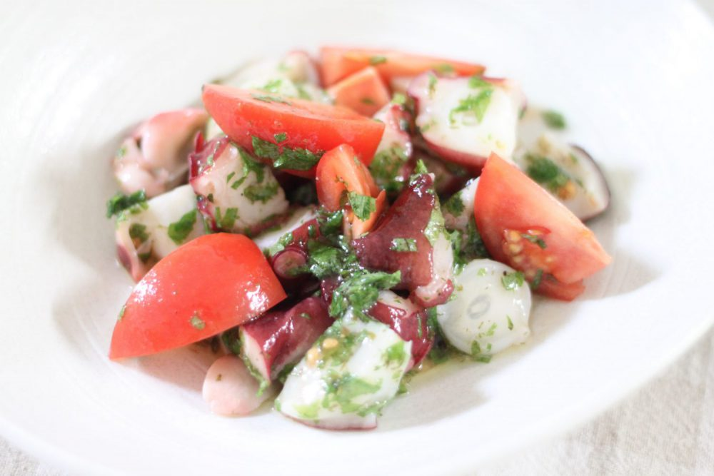 ダイエットにもおススメな大葉塩ダレで作る簡単タコマリネ大葉レシピ