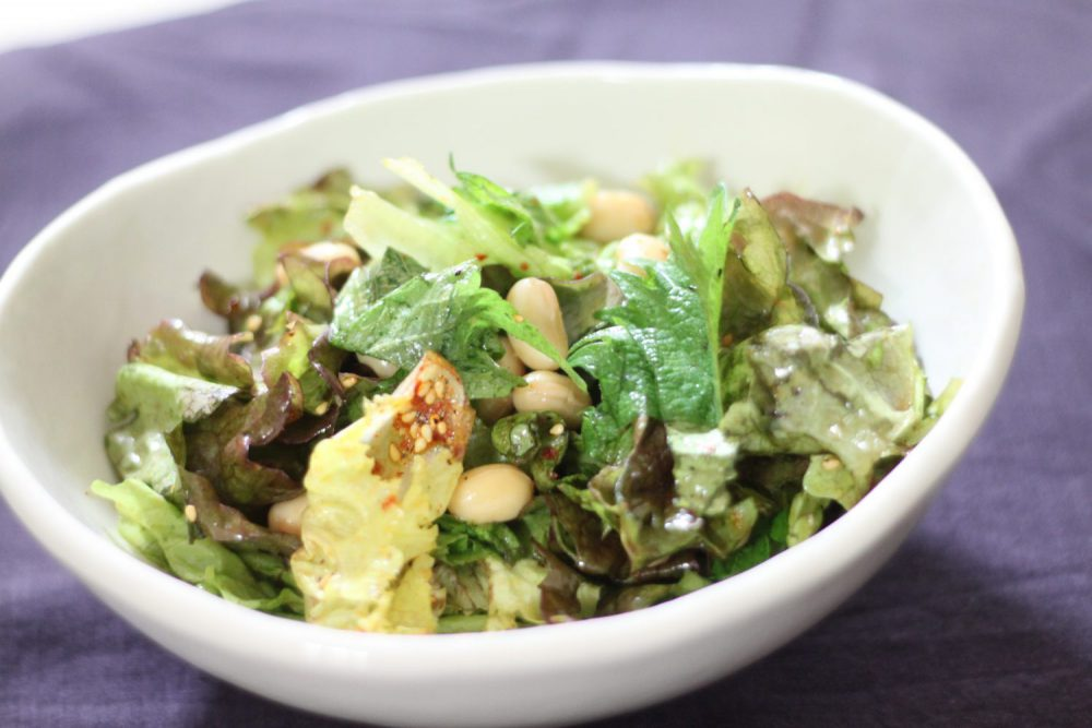 簡単!大葉と大豆のチョレギサラダの大葉レシピ