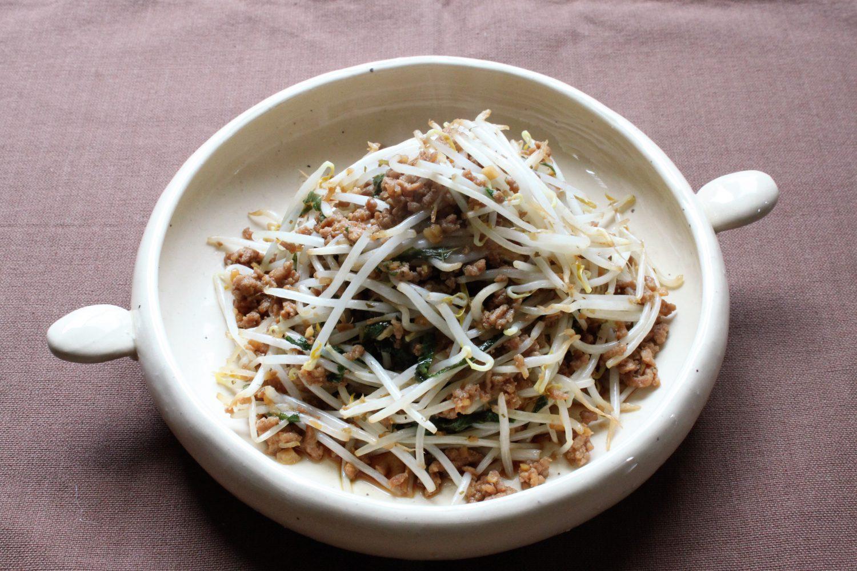 大葉ともやしの挽き肉炒め大葉レシピ