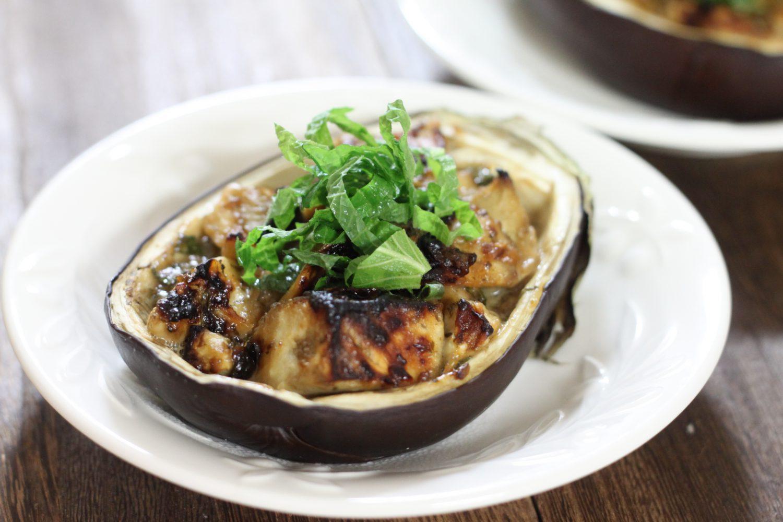 トースターで簡単に!米ナスの大葉みそマヨ焼き大葉レシピ