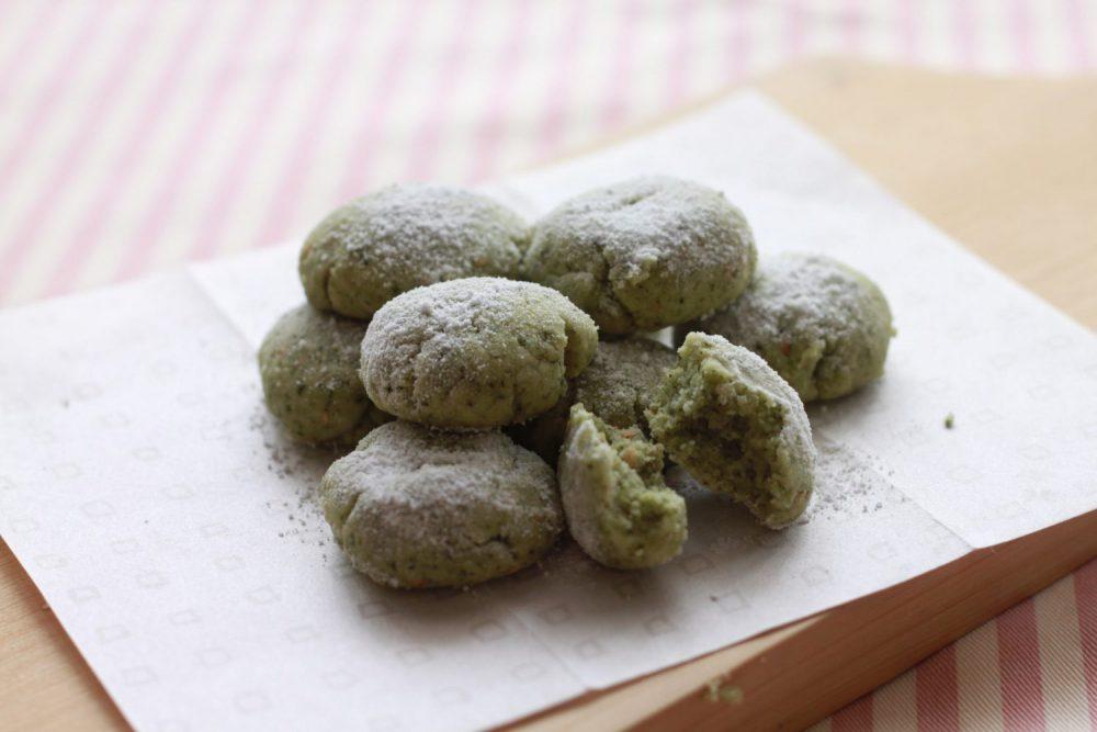青じそ香るクッキーの大葉レシピ 大葉茶のホロホロクッキー