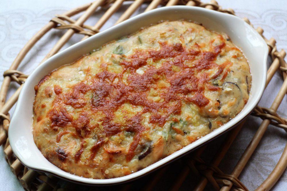 秋鮭と大葉みそグラタン大葉レシピ