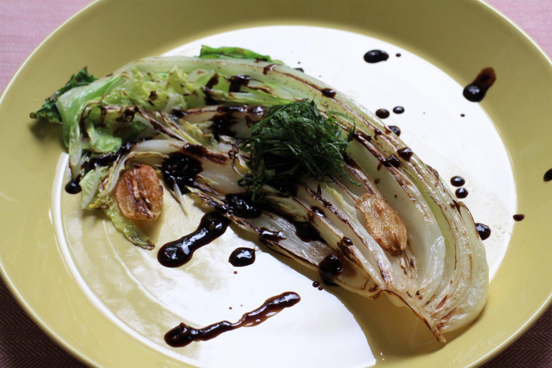 白菜ステーキ大葉みそソースの大葉レシピ