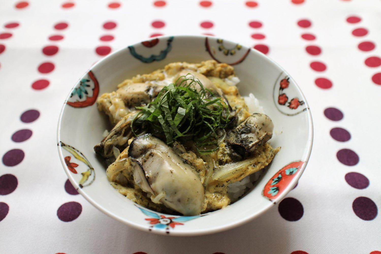 大葉と牡蠣の卵とじ丼 大葉レシピ