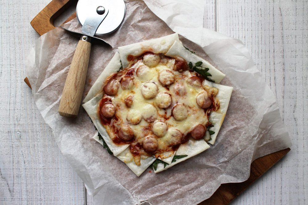 大葉とお餅のピザ 大葉レシピ