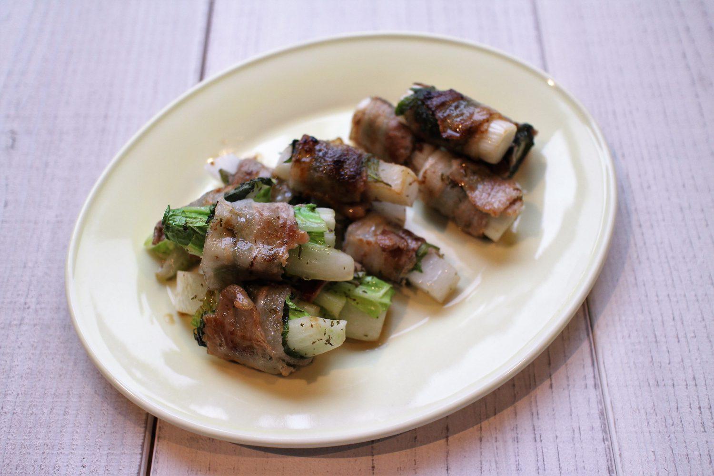 冬野菜の大葉巻き大葉レシピ