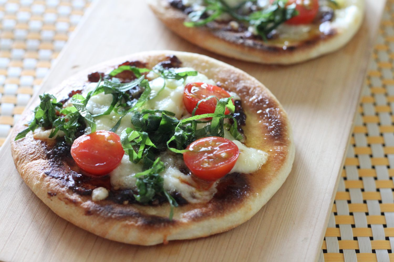 大葉みそとチーズのフライパンピザ 大葉レシピ