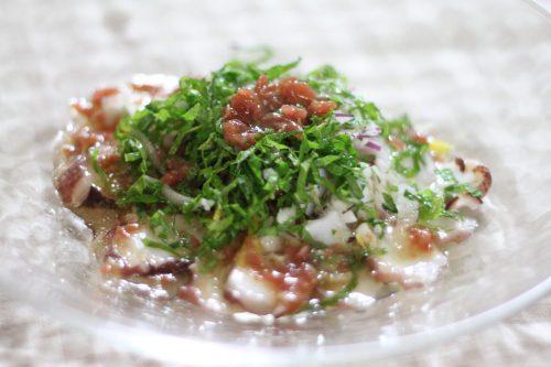 簡単おつまみ大葉レシピ!大葉とタコのおつまみカルパッチョ