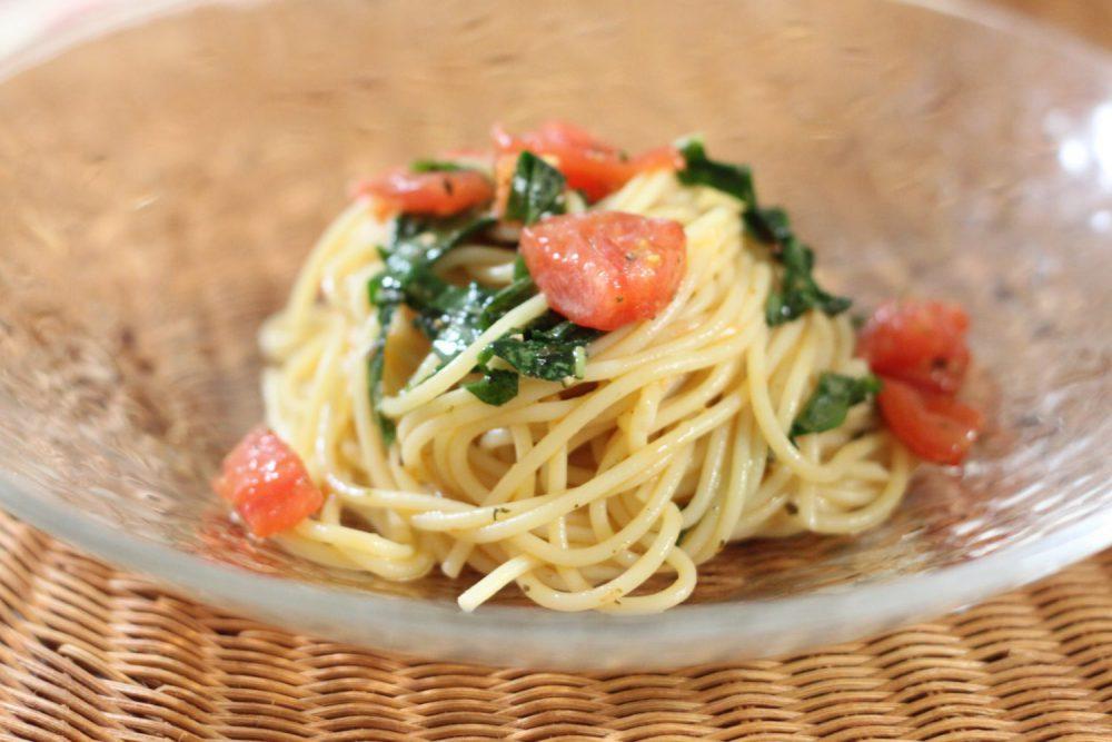 夏バテ解消大葉レシピ!大葉とトマトの冷製パスタ