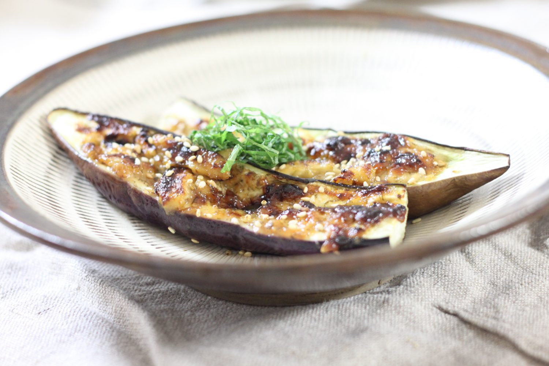 茄子との相性抜群大葉みそレシピ!大葉みそマヨの茄子ボート