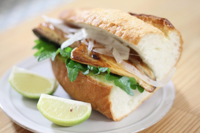 トルコサンドイッチの簡単大葉レシピ!大葉のサバサンド