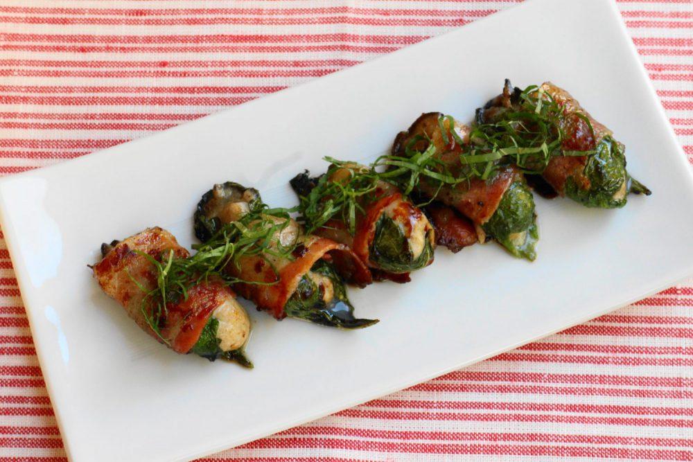 美味しいこと間違いなし大葉レシピ!牡蠣の大葉ベーコン巻き
