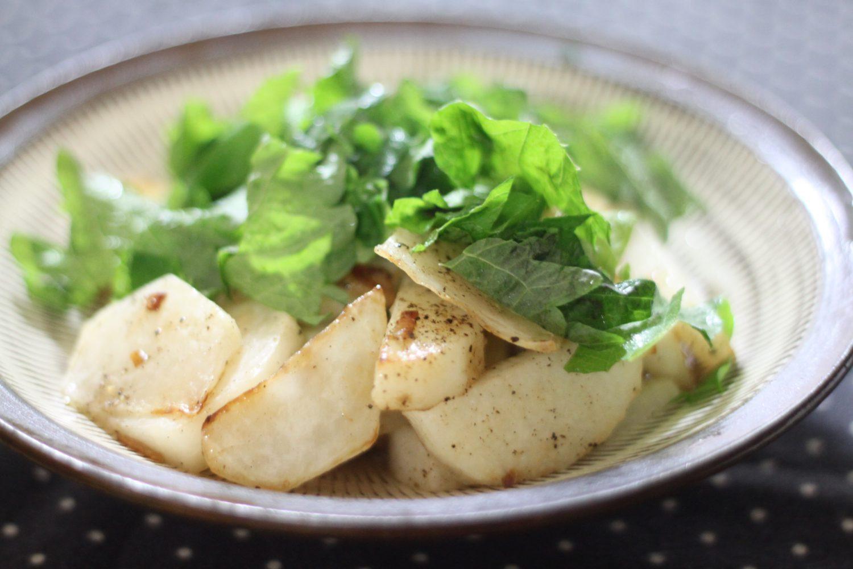 おつまみにピッタリ簡単大葉レシピ!大葉たっぷり長芋ガーリックソテー