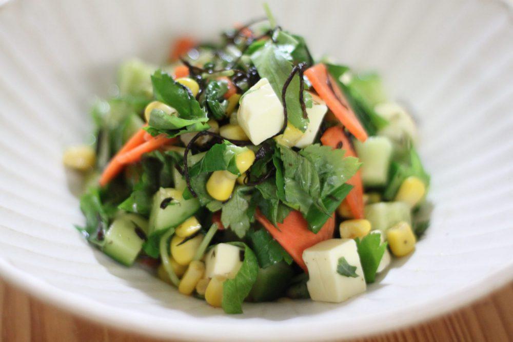 ヘルシーサラダの大葉レシピ!大葉と芽ひじきのサラダ