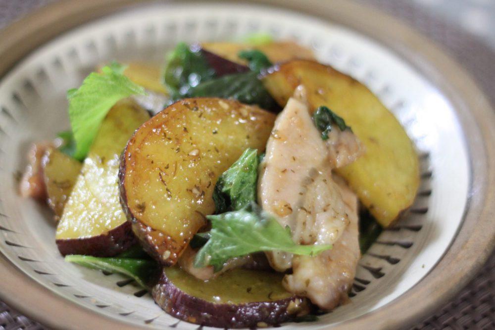 ほくほくのさつま芋が美味しい大葉レシピ!大葉とさつま芋の甘辛炒め
