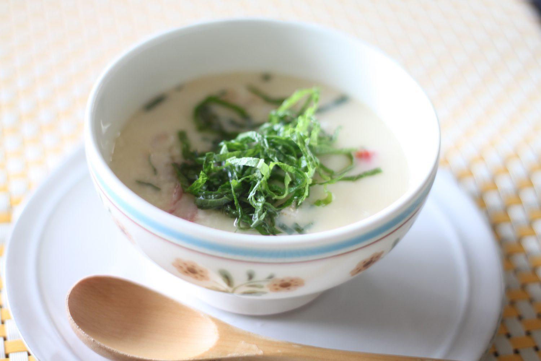 さらっと食べれる大葉レシピ!大葉の茶碗蒸し(ご飯入り)