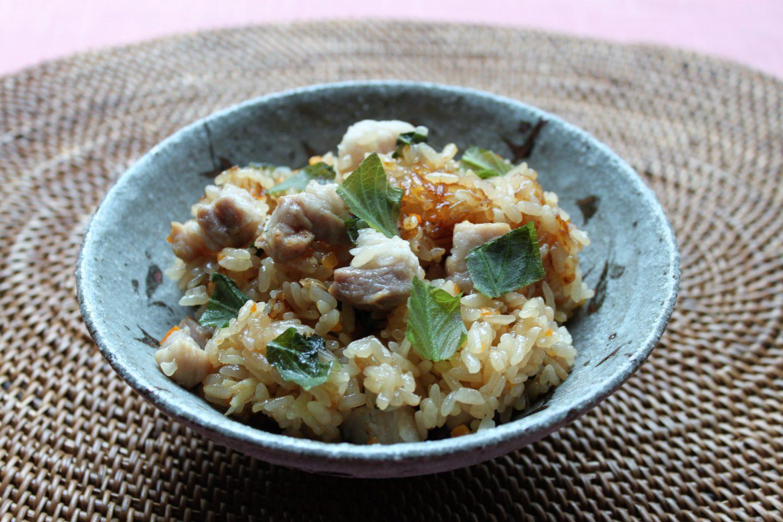 大葉入りジューシー(炊き込みご飯)大葉レシピ