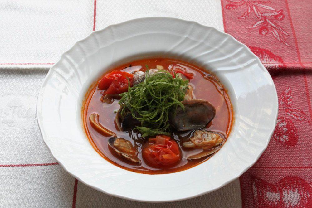 大葉とアサリのクラムチャウダー大葉レシピ