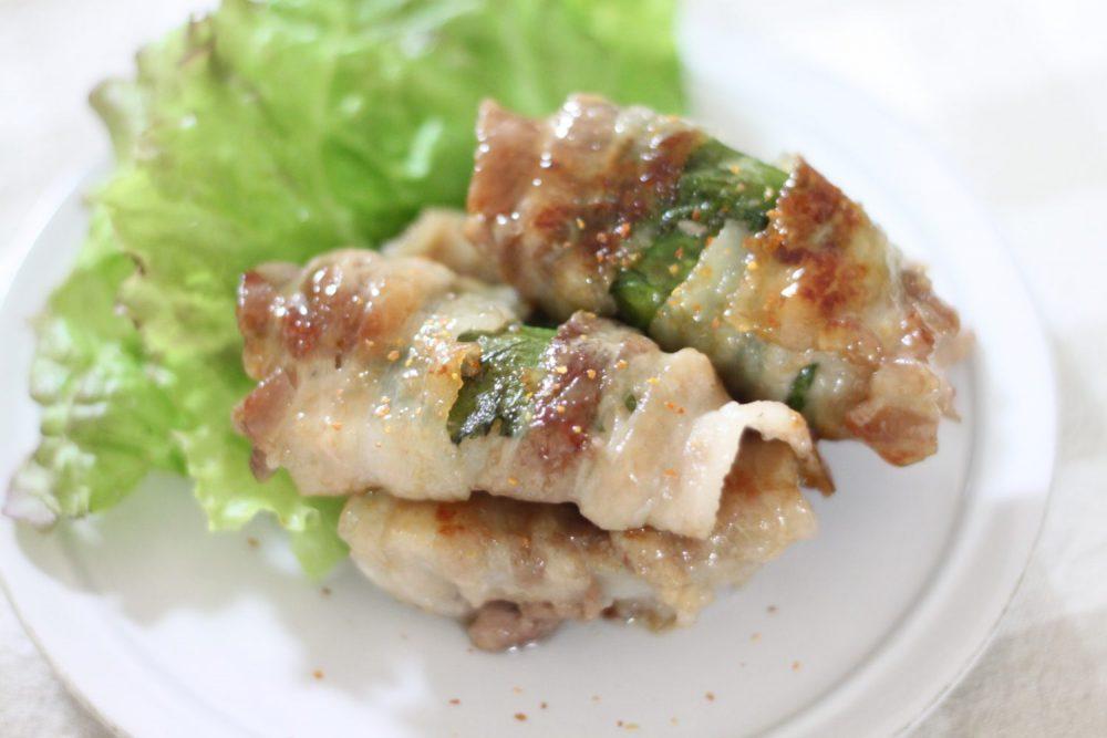 大葉とレンコンの甘辛肉巻きの大葉レシピ