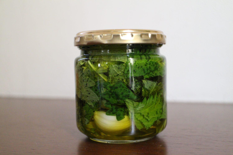 大葉の保存レシピ 大葉ガーリックオイル