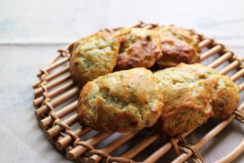 大葉とチーズのふんわりスコーン大葉レシピ