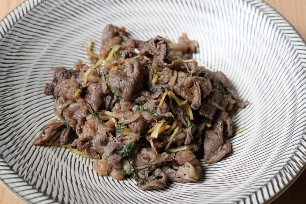牛肉の大葉しぐれ煮大葉レシピ