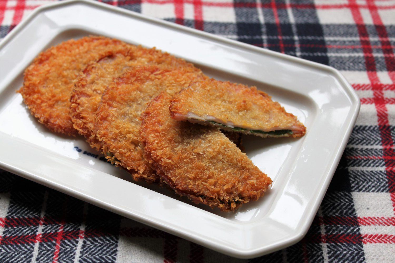大葉サンドのハムカツ大葉レシピ