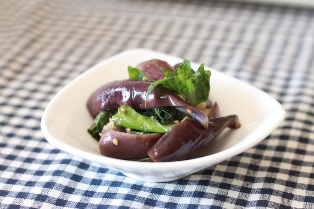 簡単10分で完成!大葉と茄子のさっぱりナムルの大葉レシピ