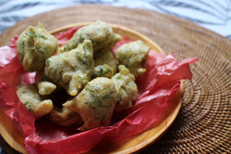 大葉とからすみのゼッポリーニの大葉レシピ