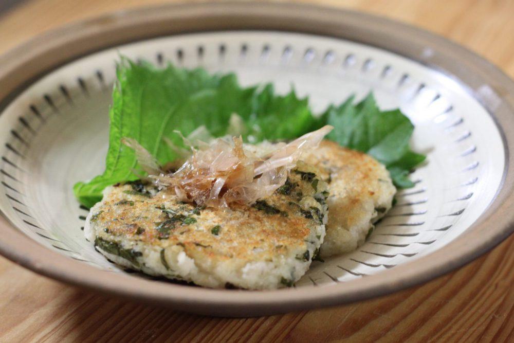 大葉とレンコンのふわとろ焼き大葉レシピ