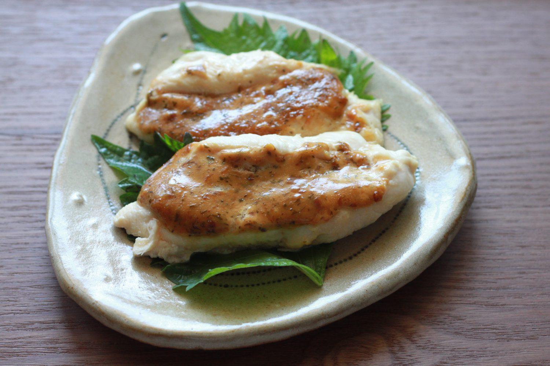 梅と大葉みそマヨの鶏ささみ焼き大葉レシピ