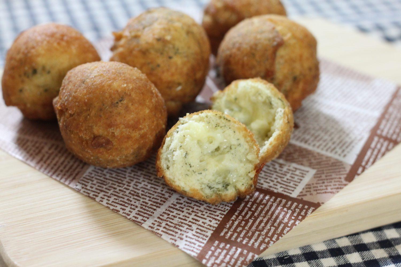 大葉茶ドーナツ(チーズ入り)大葉レシピ
