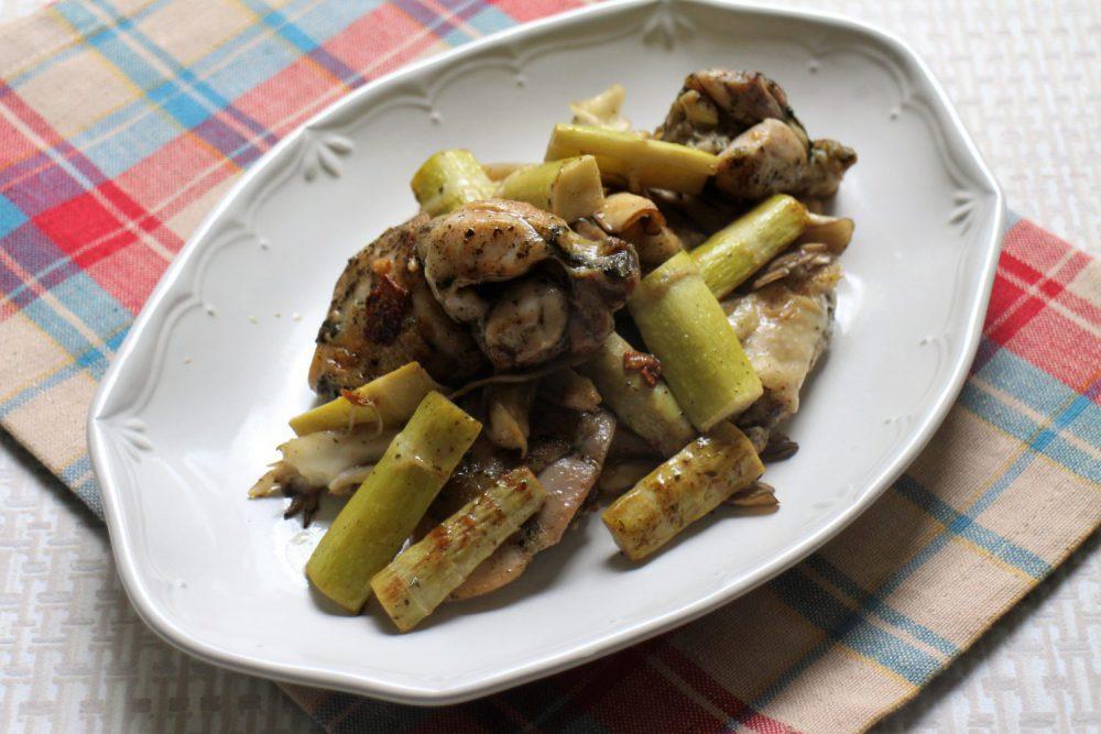 四方竹と鶏肉の大葉みそ炒めの大葉レシピ