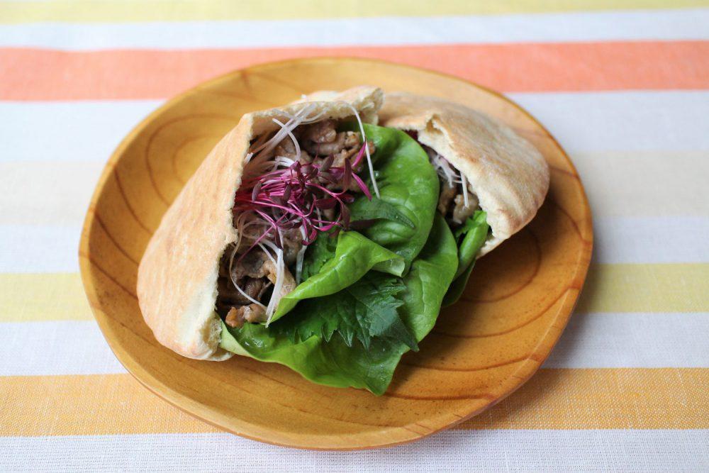 大葉と豚肉のピタパンサンド 大葉レシピ