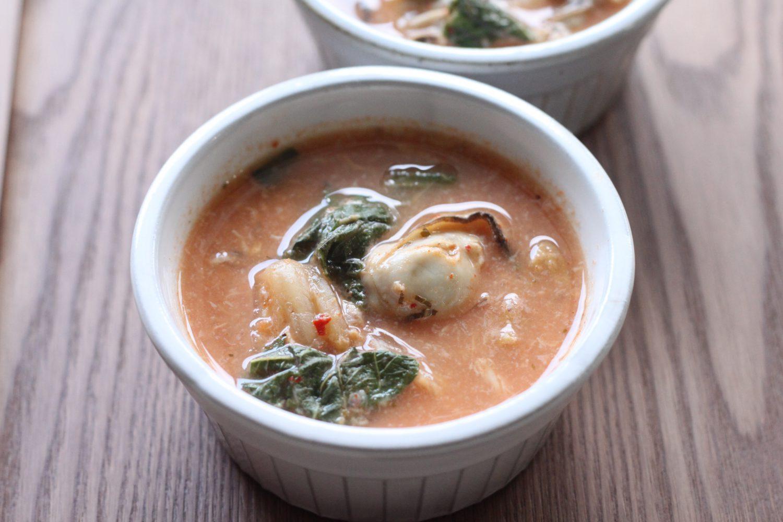 大葉たっぷり牡蠣キムチスープ 大葉レシピ
