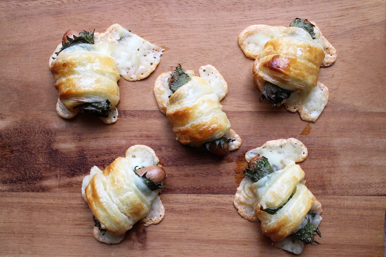 大葉ウインナーロールパン 大葉レシピ