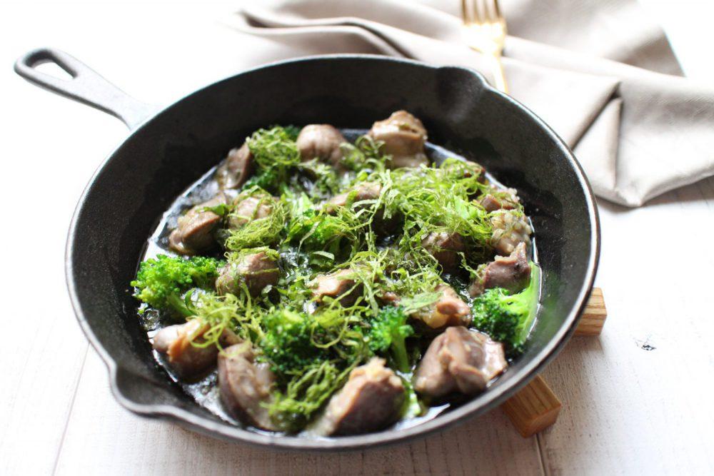 大葉と砂肝のアヒージョ 大葉レシピ