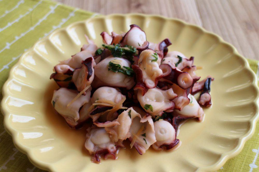 タコの大葉炒め 大葉レシピ