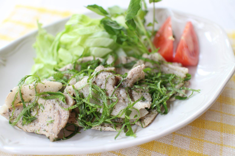 豚ロース肉の大葉レモン焼き 大葉レシピ