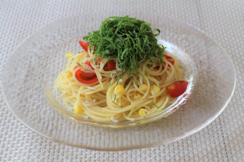 大葉としらすのカペッリーニ 大葉レシピ