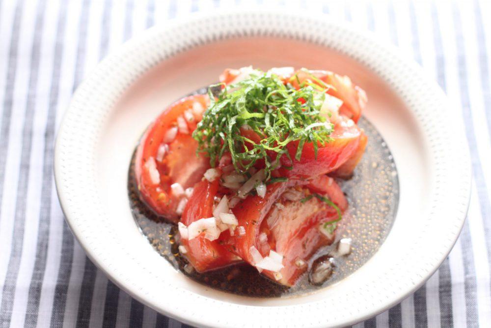 大葉とトマトの中華風 大葉レシピ