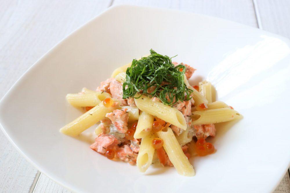 鮭と大葉のクリームペンネ 大葉レシピ