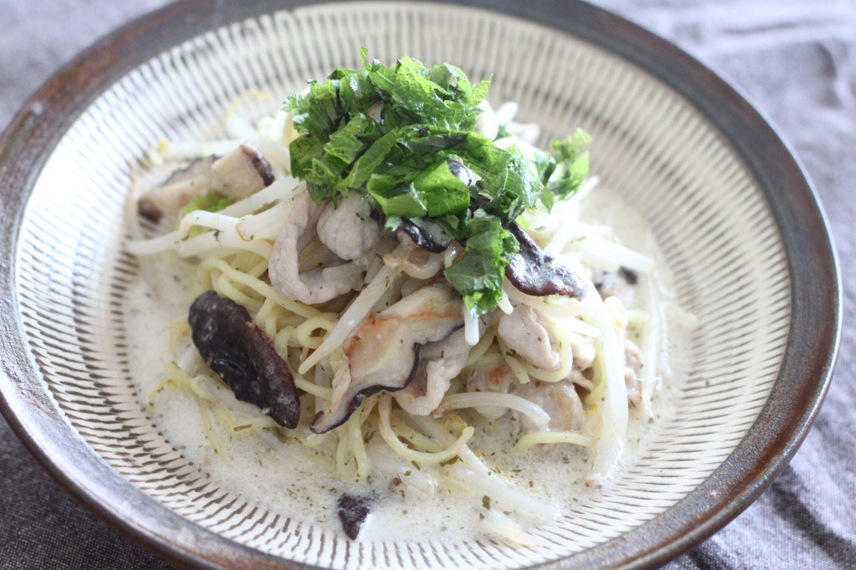 大葉塩ダレで作る焼きラーメン 大葉レシピ