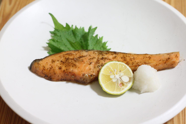 生鮭の大葉ドレ幽庵(ゆうあん)焼き 大葉レシピ