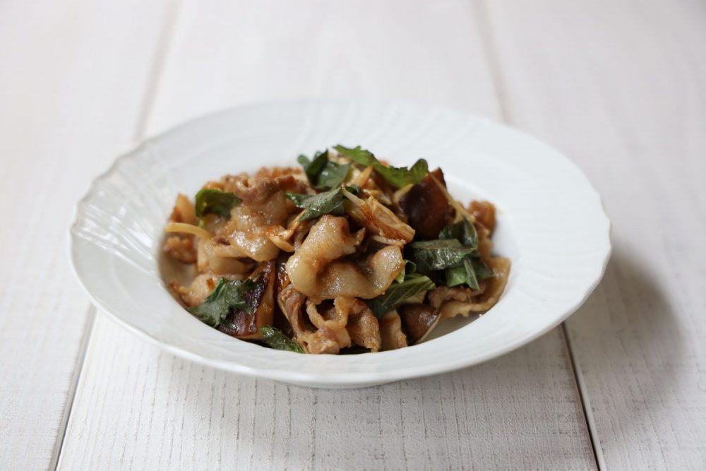 きのこと豚肉の大葉しょうが炒め 大葉レシピ