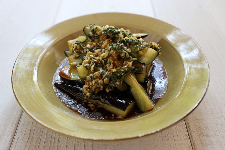 揚げ茄子もピリ辛香味大葉ダレ 大葉レシピ