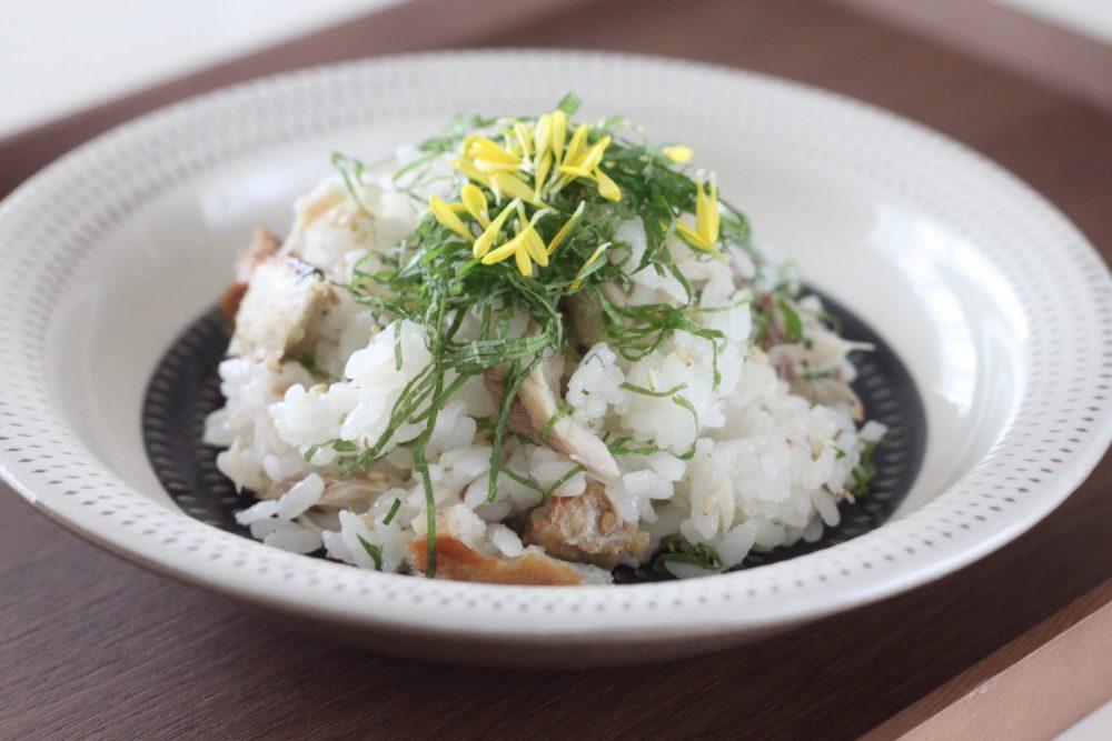 焼きサバちらし寿司 大葉レシピ